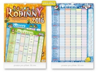 Rodinný 2016 - nástěnný kalendář