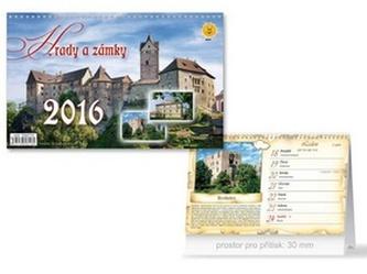 Hrady a zámky 2016 - stolní kalendář