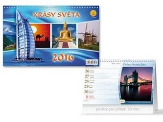 Krásy světa 2016 - stolní kalendář