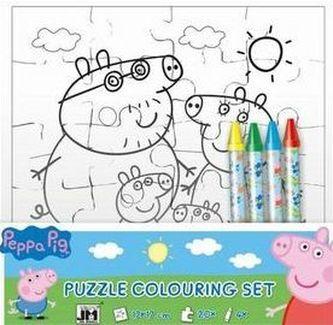 Peppa Pig - Omalovánky puzzle - neuveden