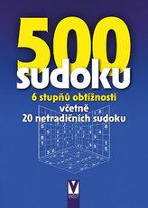 500 sudoku - 6 stupňů obtížnosti včetně 20 netradičních sudoku (modré)