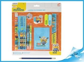Mimoň sada psacích potřeb Minions na kartě