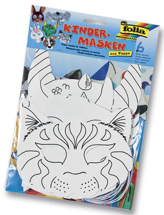 Dětské masky z papíru Zvířátka 6 kusů