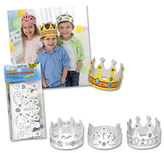 Koruny pro děti z papíru 6 kusů