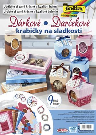 Dárkové krabičky na sladkosti a cukroví, 9 kusů