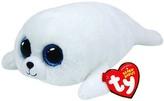 Plyš očka střední tuleň bílý
