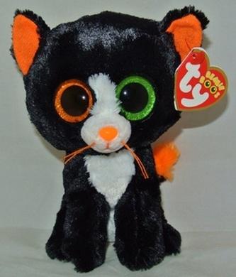 Plyš očka střední kočka černá