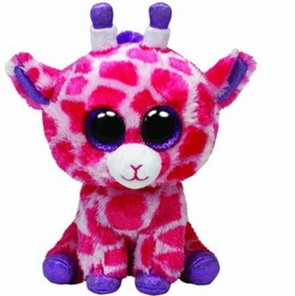 Plyš očka velká žirafa růžová
