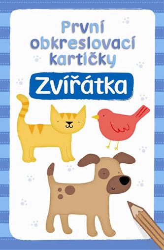 První obkreslovací kartičky - Zvířátka