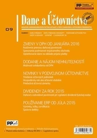 Dane a účtovníctvo 9-2015