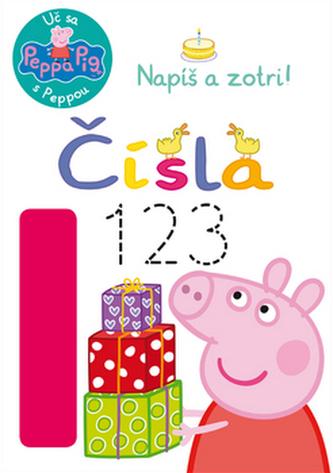 Peppa Pig Uč sa s Peppou Napíš a zotri! Čísla