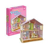 Puzzle 3D Dům pro panenky Sara´s Home