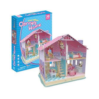 Puzzle 3D Dům pro panenky Carrie´s Home - neuveden