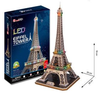 Puzzle 3D Eiffelova věž / led - 82 dílků - HM Studio