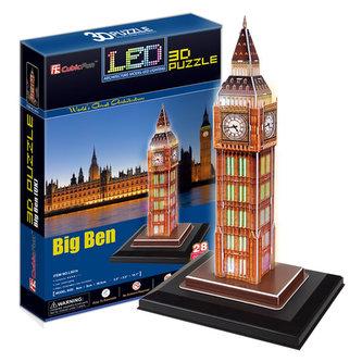 Puzzle 3D Big Ben / led - 28 - neuveden