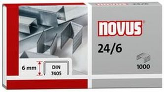 Drátky do sešívačky 24/6 Standard - 1000 ks - NOVUS