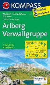 Kompass Karte Arlberg - Verwallgruppe