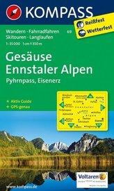 Kompass Karte Gesäuse - Ennstaler Alpen - Pyhrnpass - Eisenerz