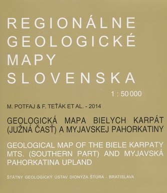 Geologická mapa Bielych Karpát 1:50 000