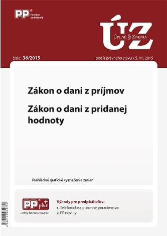 UZZ 36/2015 Zákon o dani z príjmov. Zákon o dani z pridanej hodnoty