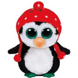 Plyš očka střední tučňák s čepicí
