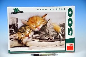 Puzzle Kotě v botě 500dílků 47x33cm v krabici