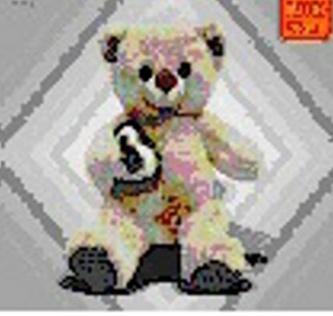 Medvědice se srdcem 20cm