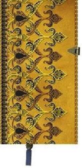 Zápisník Boncahier - úzký zlatohnědý kovová spona