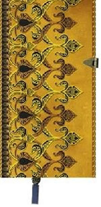 Zápisník Boncahier - úzký zlatohnědý kovová spona - neuveden