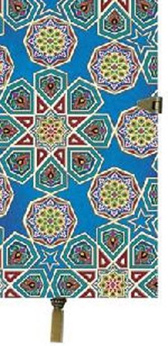 Zápisník Boncahier - úzký modrý kovová spona