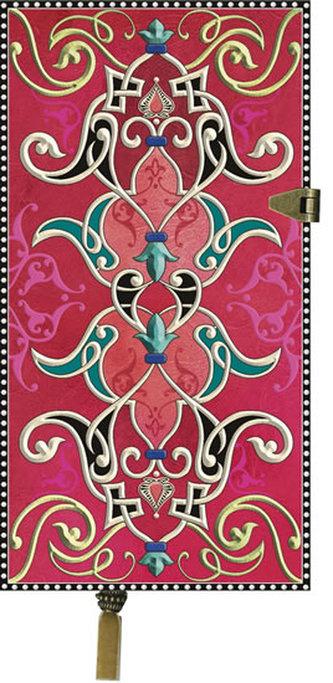 Zápisník Boncahier - úzký červený kovová spona - neuveden