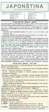 Japonština – souhrn gramatiky