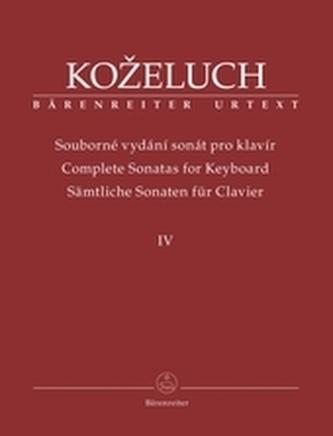 Souborné vydání sonát pro klavír IV