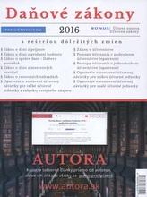 Daňové zákony 2016 pre účtovníkov