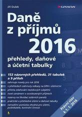 Daně z příjmů 2016 - přehledy, daňové a účetní tabulky