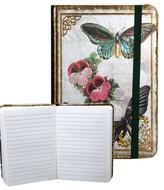 Zápisník s gumičkou 95x140 mm motýli A
