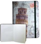 Zápisník s gumičkou 178x126 mm Pisa F