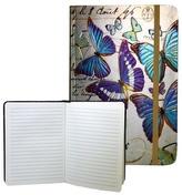 Zápisník s gumičkou 178x126 mm zlatý s motýli F