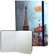 Zápisník s gumičkou 178x126 mm Paříž s Eifelovkou F