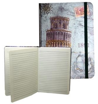 Zápisník s gumičkou A5 145x210 mm Pisa D