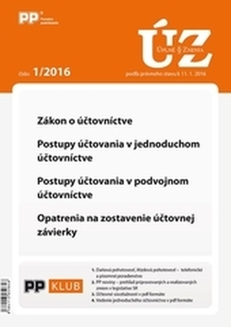 UZZ 1/2016 Zákon o účtovníctve