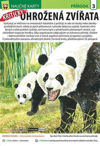 Kriticky ohrožená zvířata - Naučná karta