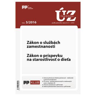 Úplne znenia zákonov 5-2016