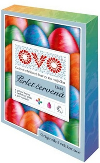 Barvy na vajíčka OVO Efekt PERLEŤ ČERVENÁ 5x5ml