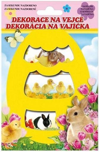 Velikonoční obtisk na vajíčko 779 košilky - živá zvířátka