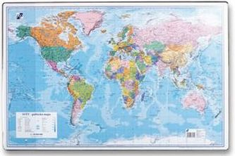 Podložka na stůl 40x60cm, mapa světa