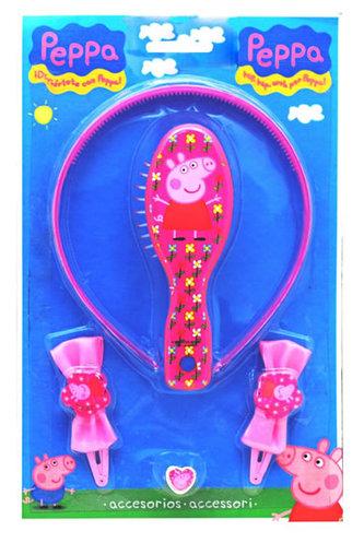 Prasátko Peppa - set na vlasy 6551