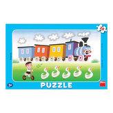 Veselá mašinka - puzzle 15 dílků