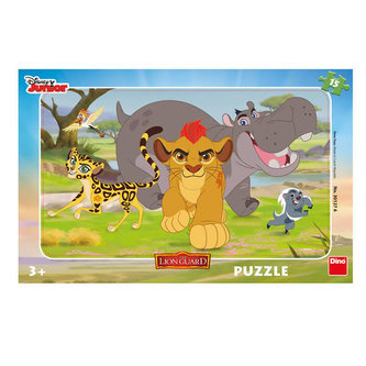 Lví hlídka - puzzle 15 dílků