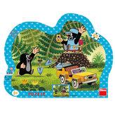 Krtek se žlutým autem - puzzle 25 dílků
